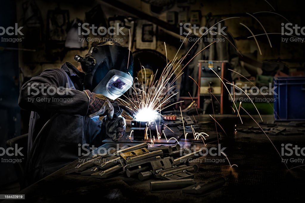 Welder Welding royalty-free stock photo