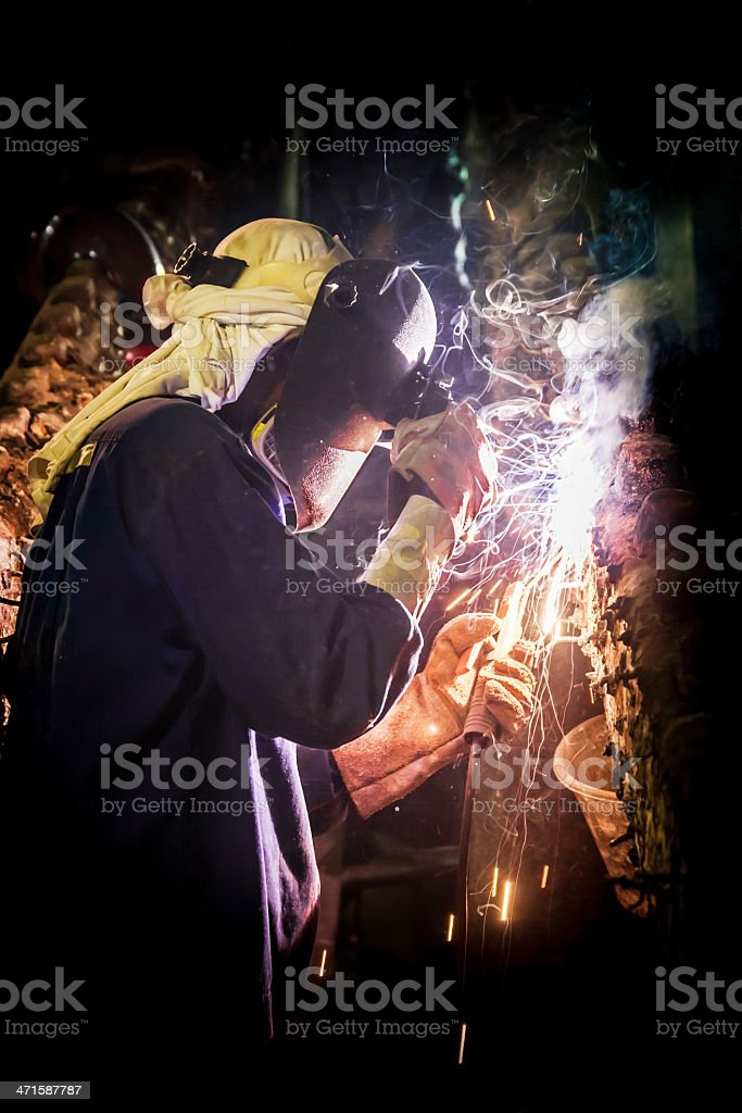 Welder work hard royalty-free stock photo