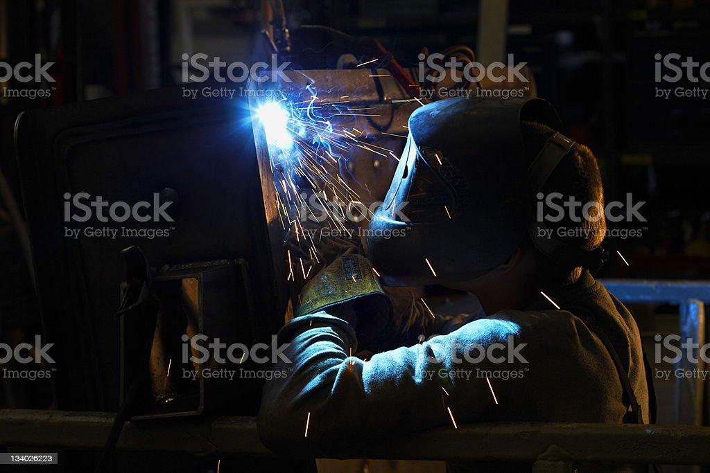 Welder working royalty-free stock photo