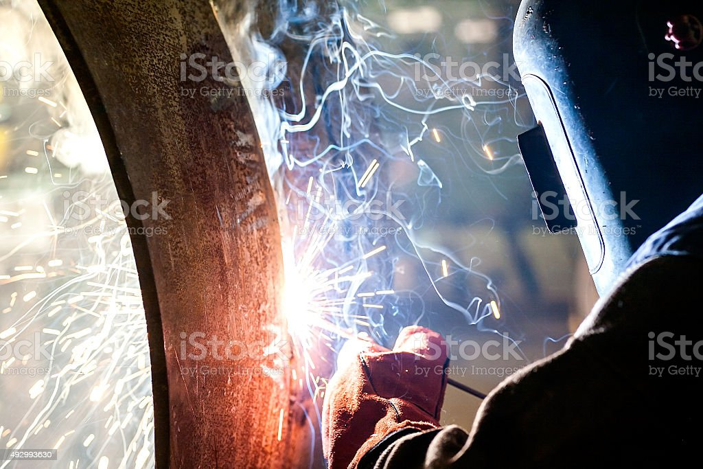 Welder's special tecnique stock photo
