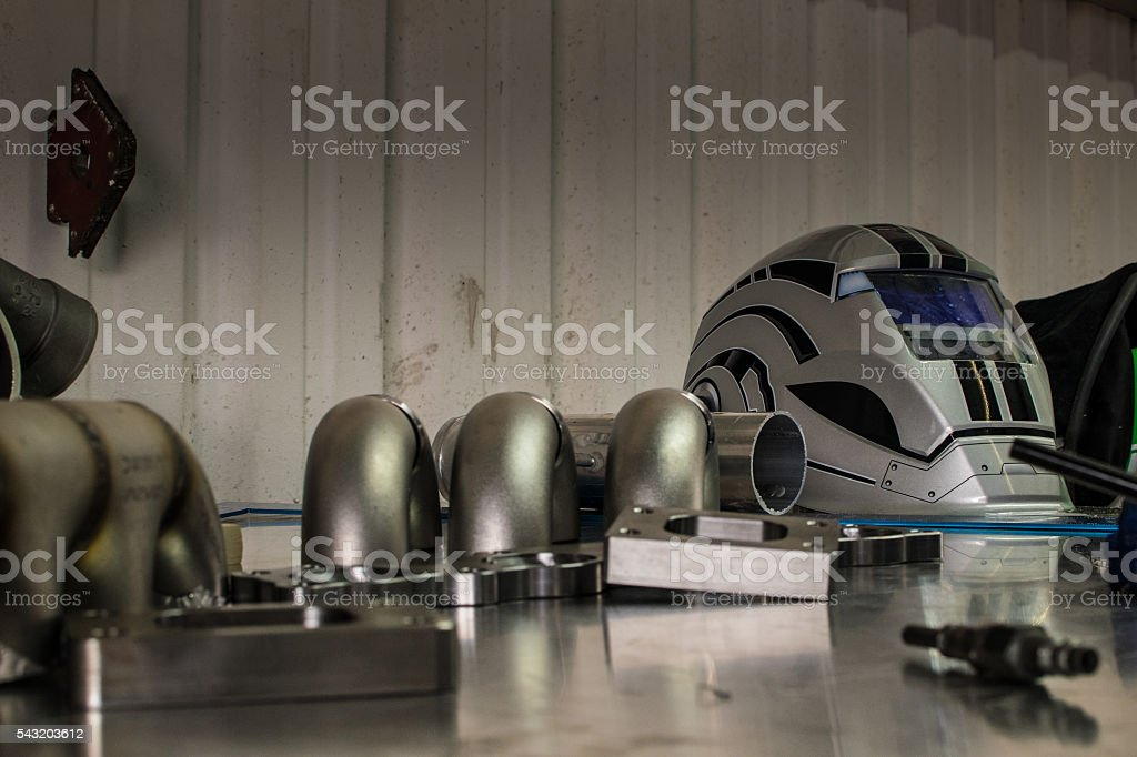 Welders Workstation stock photo
