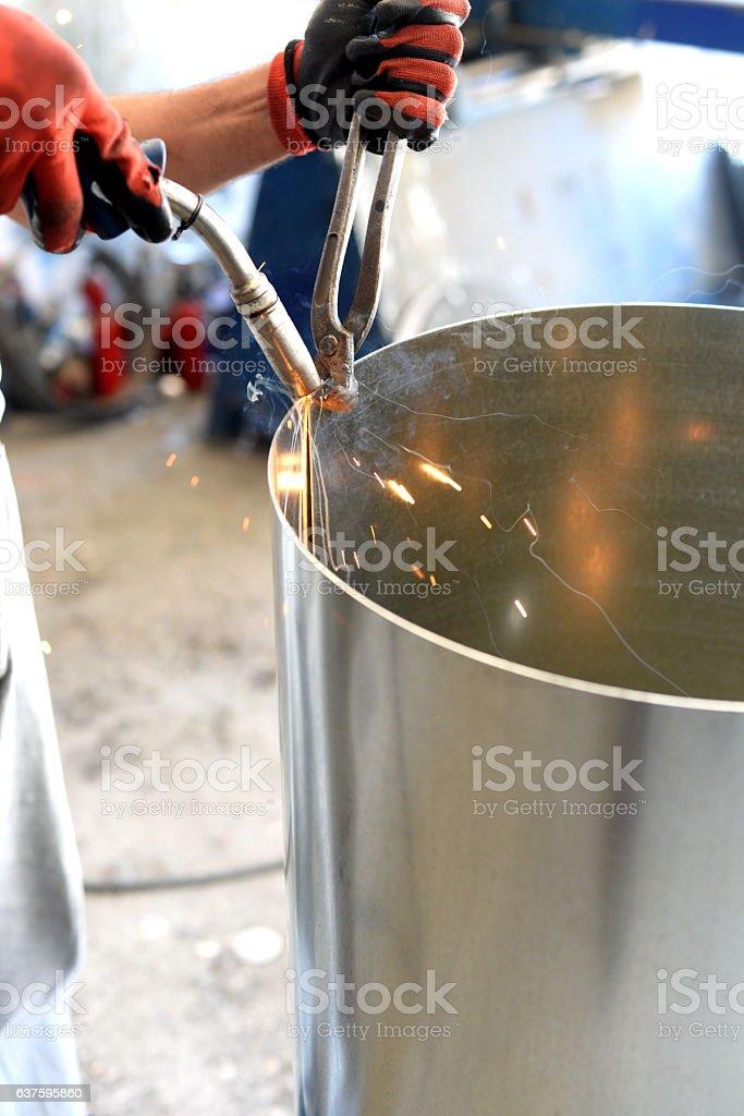 Welder,Welding,Argon Welding,Gas welding stock photo