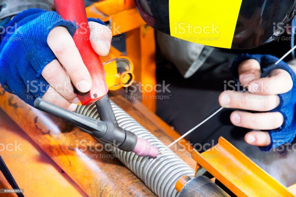 Welding details stock photo