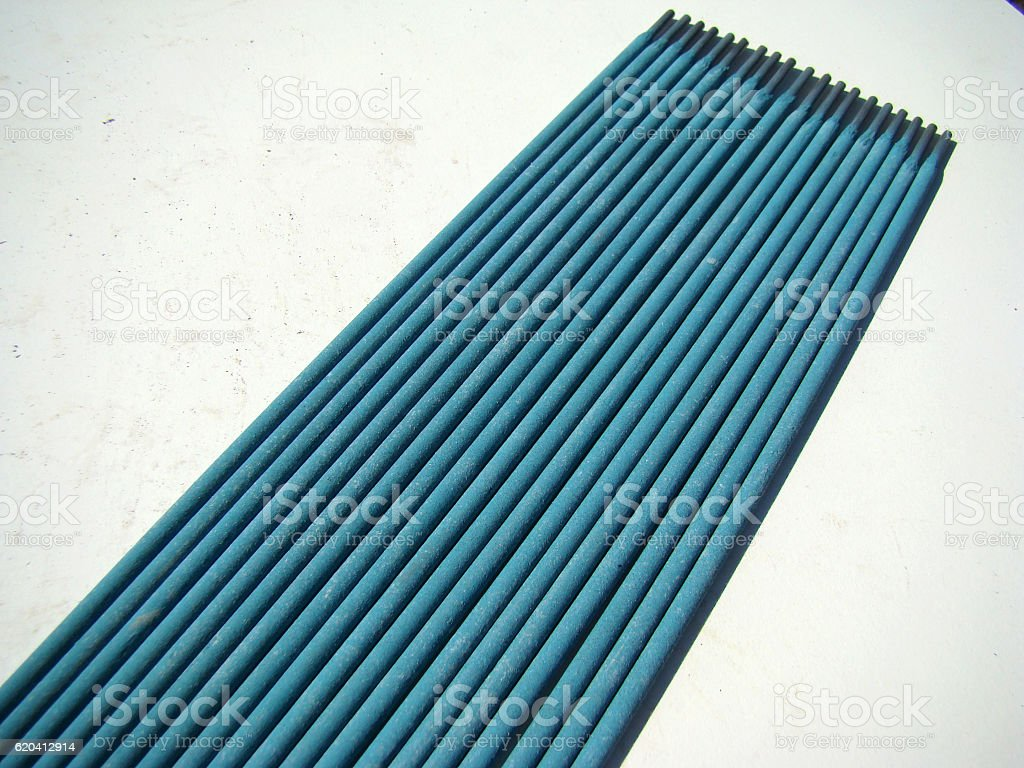 welding electrodes stock photo