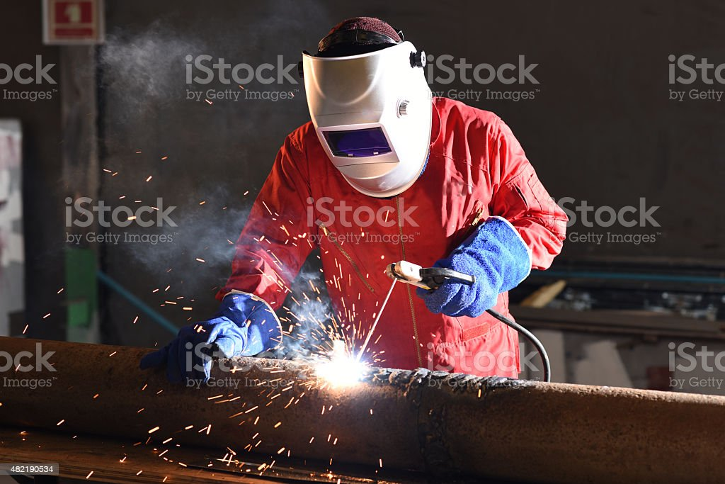 Welding engineer stock photo