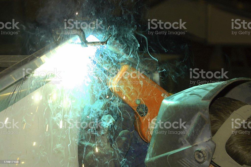 Welding Frabrication of Aluminum royalty-free stock photo