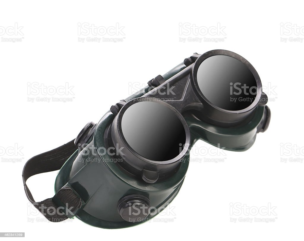 Welding glasses close up. stock photo