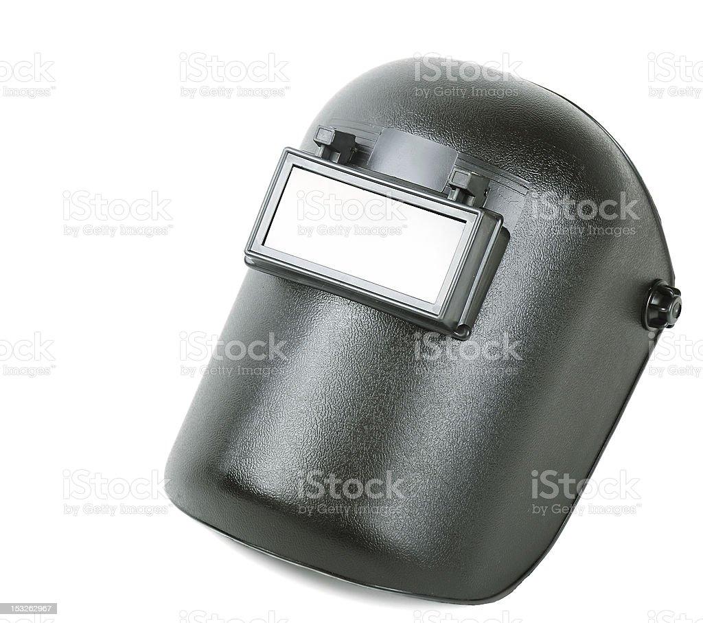 Welding mask stock photo