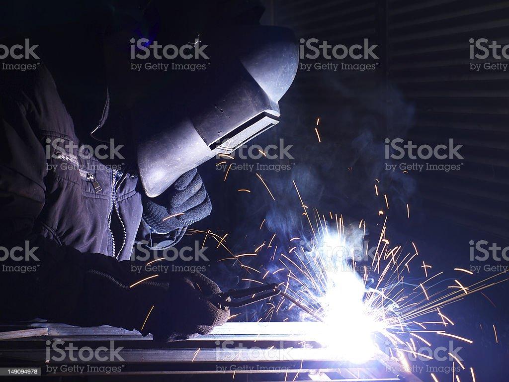 Welding royalty-free stock photo