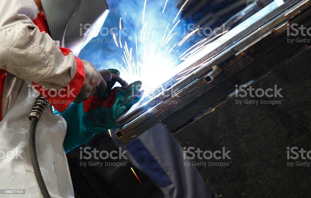Welding at garage