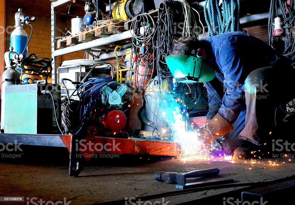 MIG welding stock photo