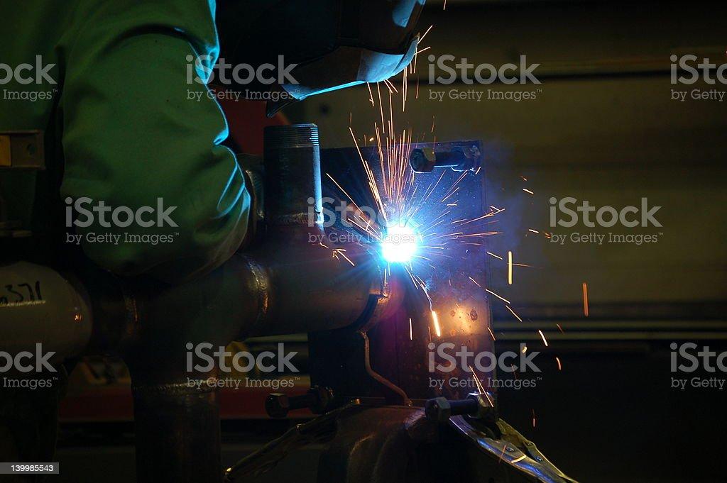 Welding Pipeline stock photo