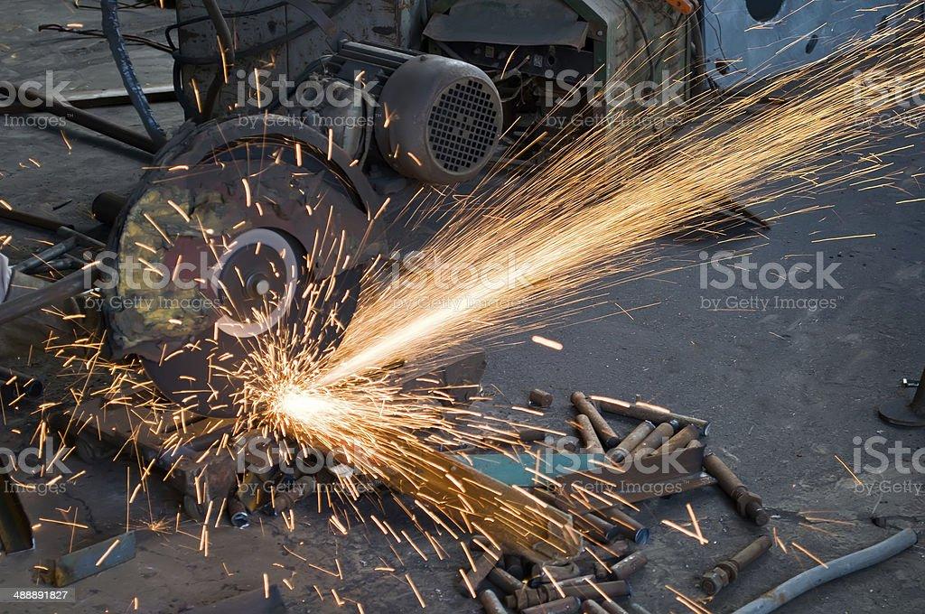 Welding polished stock photo
