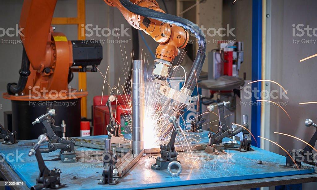 Welding robot stock photo