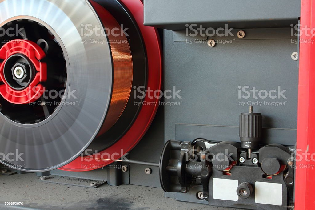 Welding rod for welder stock photo