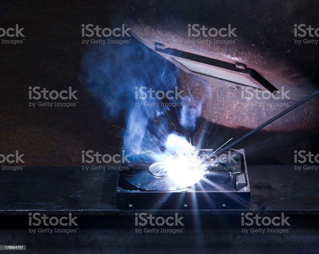 welding scenery royalty-free stock photo