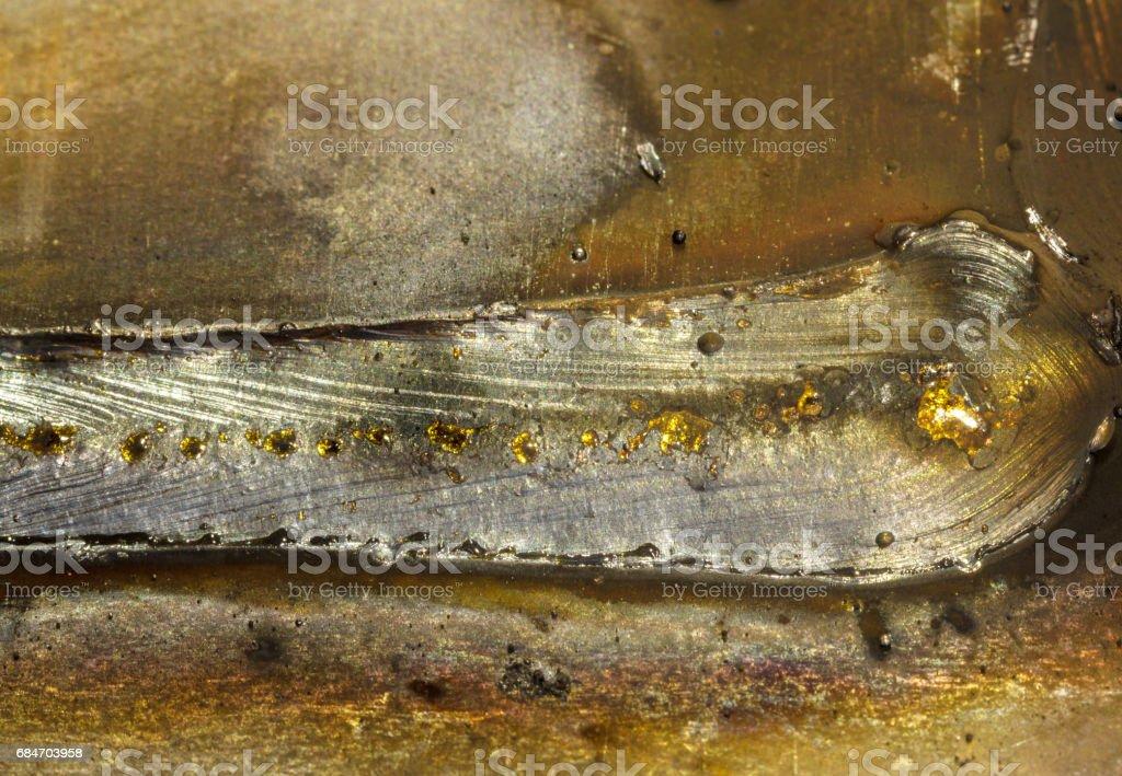 welding seam onto steel sheet metal stock photo