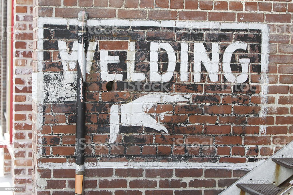 Welding Sign royalty-free stock photo