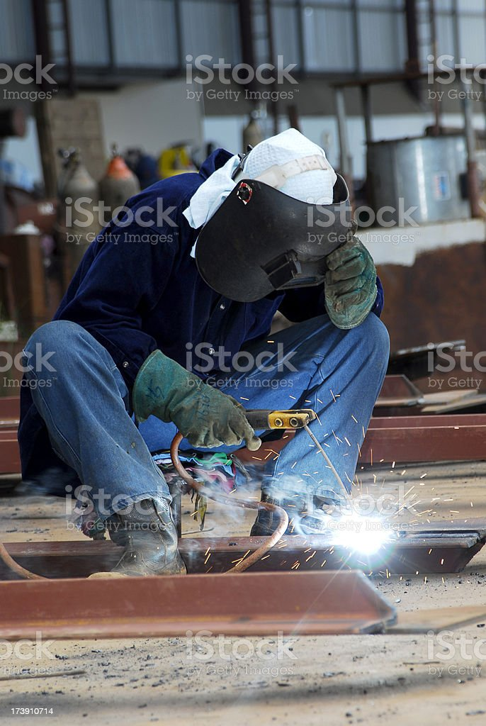 Welding sparks royalty-free stock photo