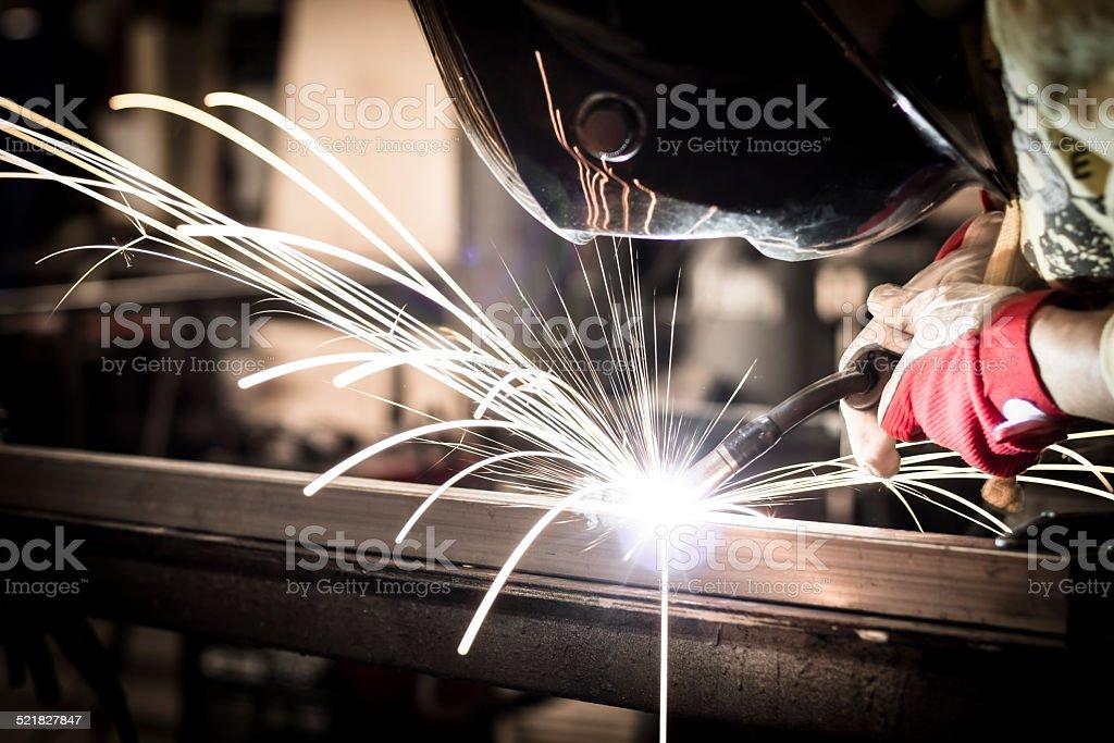 Welding steel stock photo