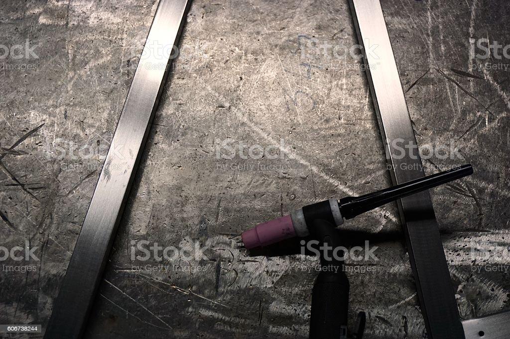 welding tool background stock photo