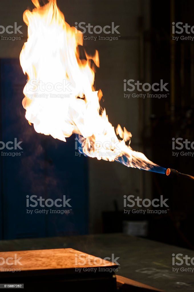 welding torch - flame stock photo