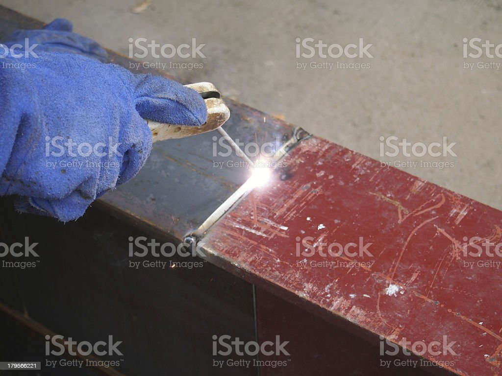 welding with mig-mag method royalty-free stock photo