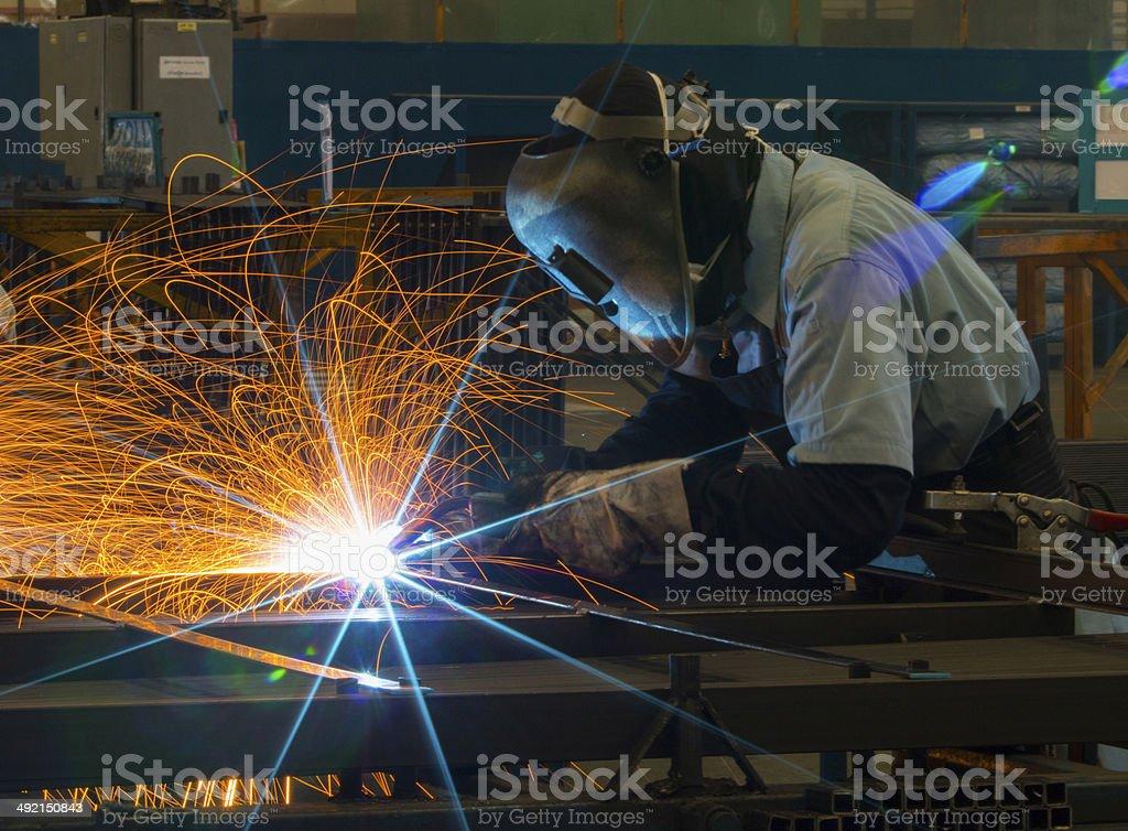 Welding work. stock photo
