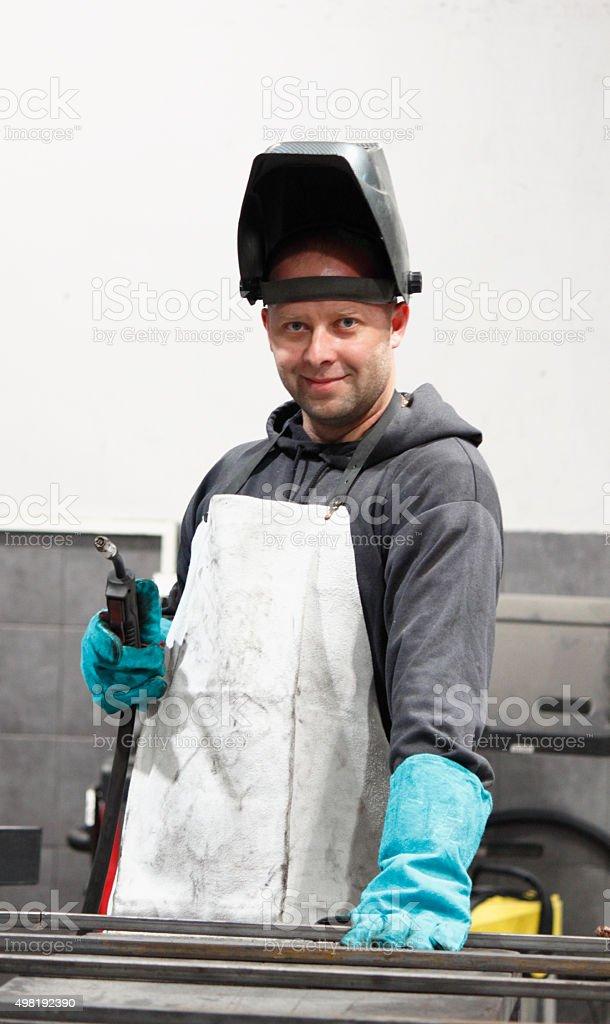 Welding work stock photo