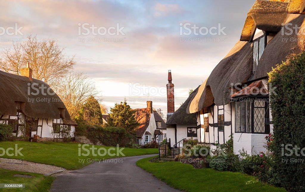 Welford on Avon village, Warwickshire, England stock photo
