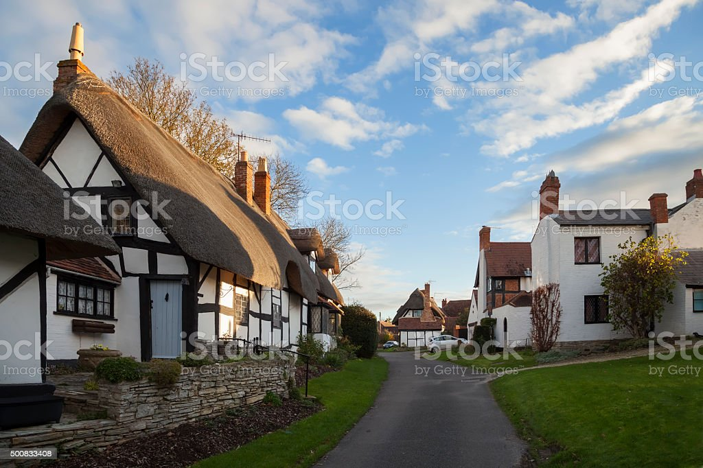 Welford on Avon village, Warwickshire, England stock photo
