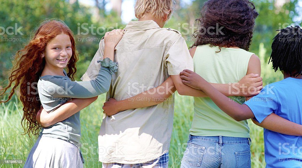 We'll always be the best of friends! stock photo