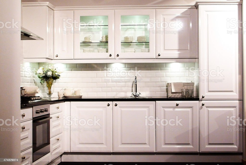 Well Built Domestic Luxury Cooking Kitchen stock photo