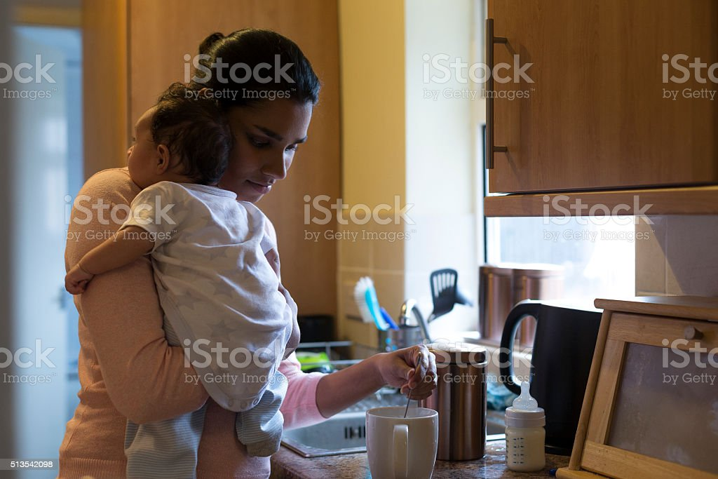 Well deserved cuppa stock photo