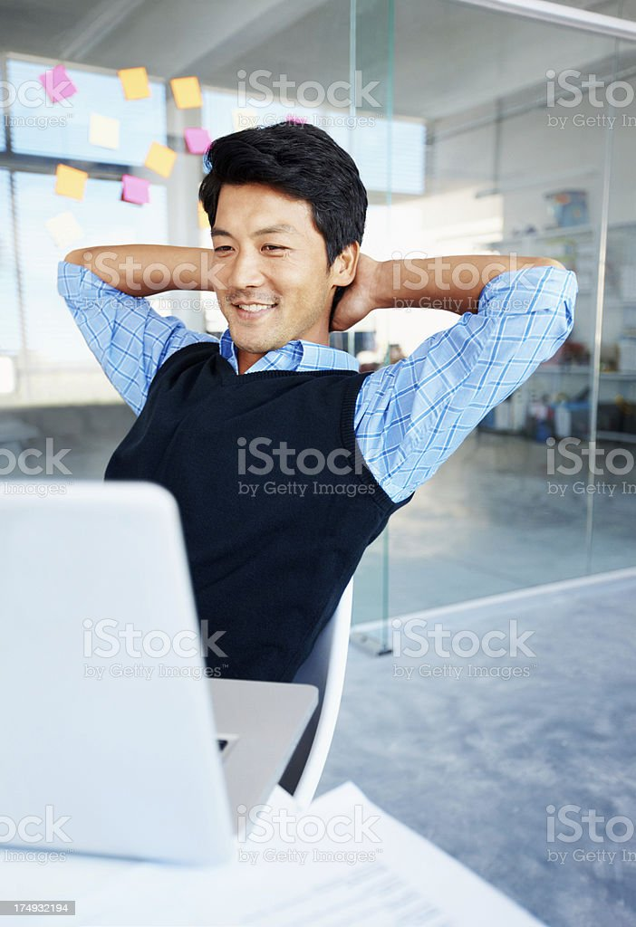 Well deserved downtime stock photo