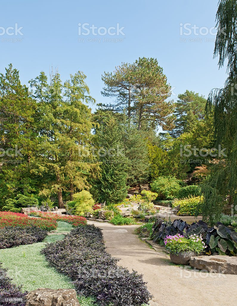 Well designed garden - VII royalty-free stock photo
