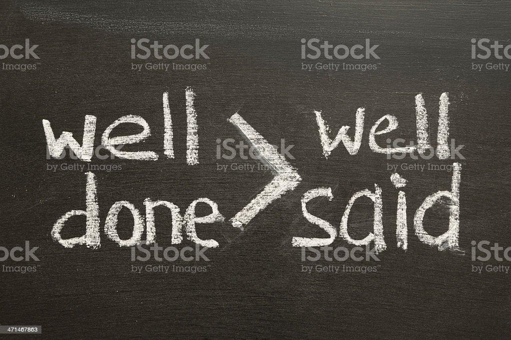 well done is more stock photo