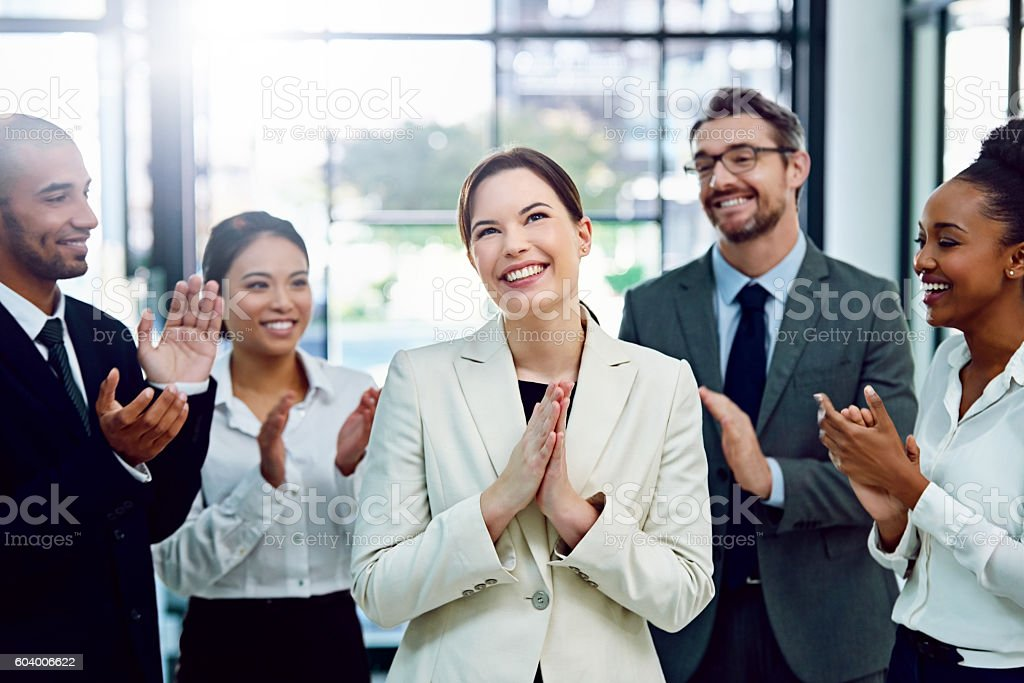 Well done, you deserve this! stock photo