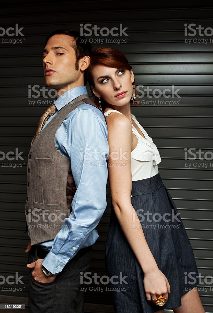 Well Dressed Man and Woman royalty-free stock photo