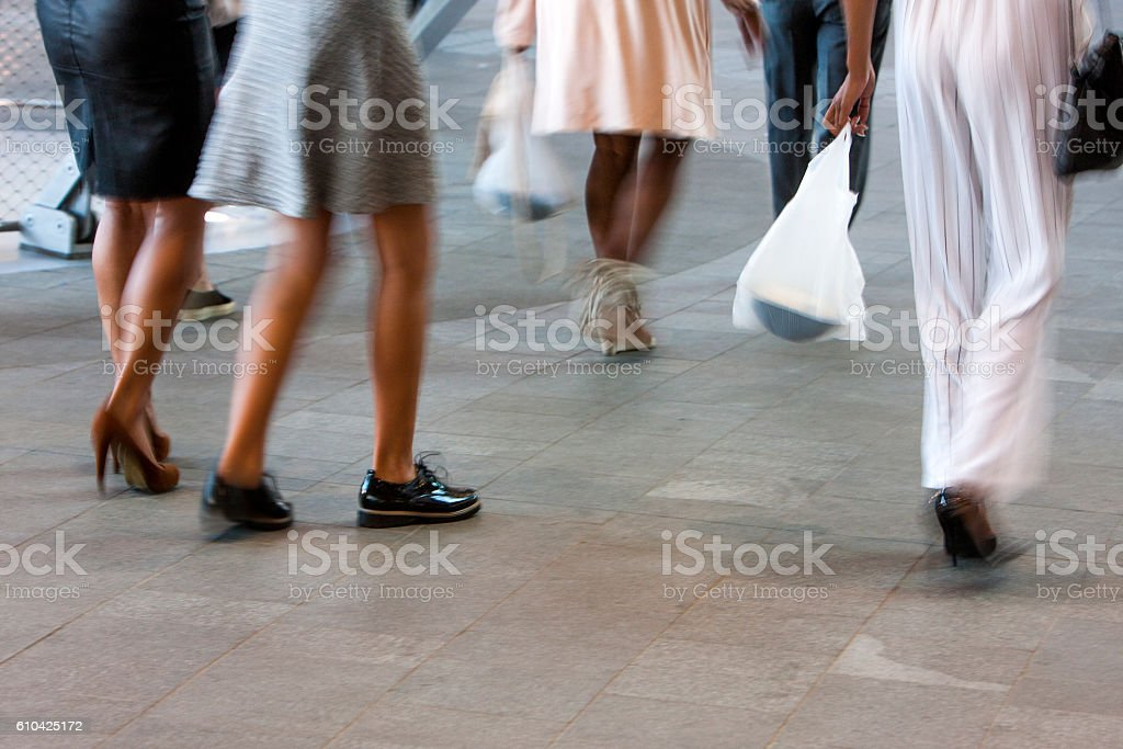 Well dressed women in the city stock photo
