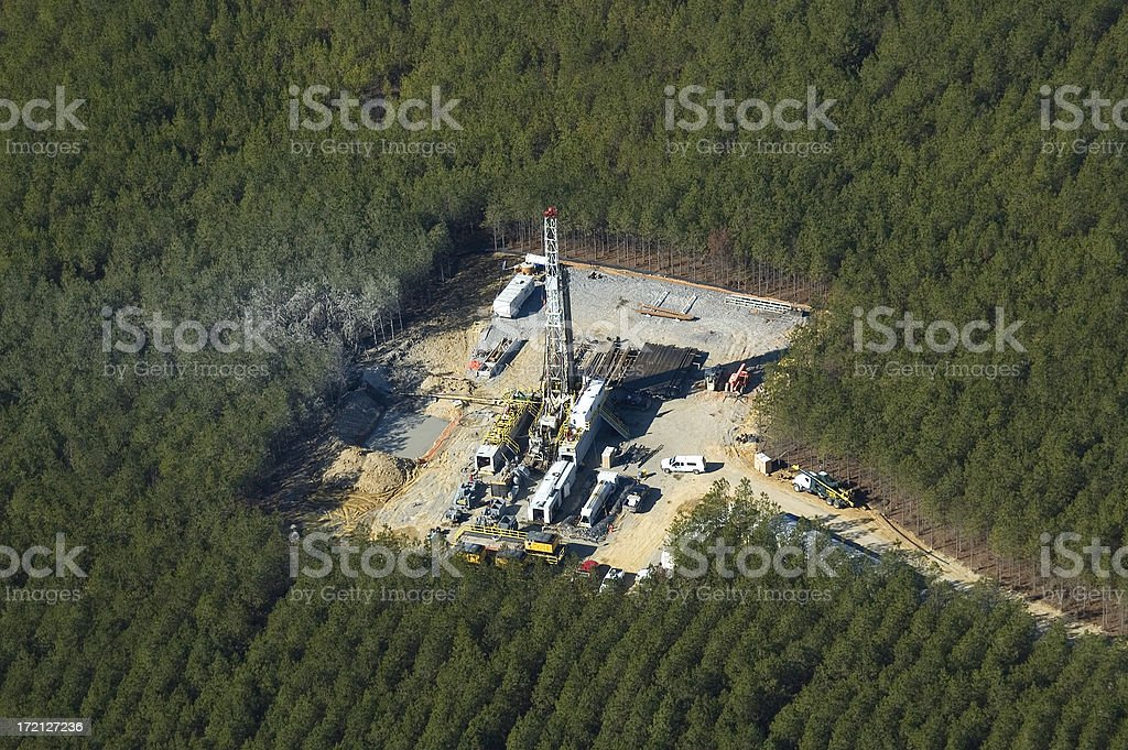 Well Drilling Operation royalty-free stock photo