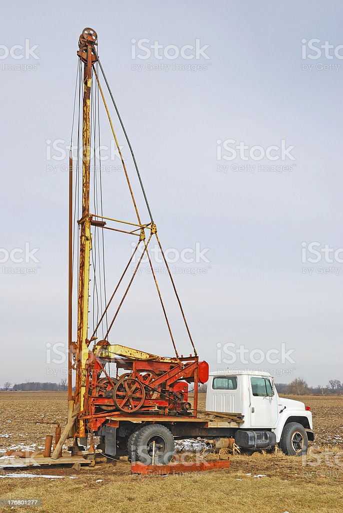 well drilling rig royalty-free stock photo