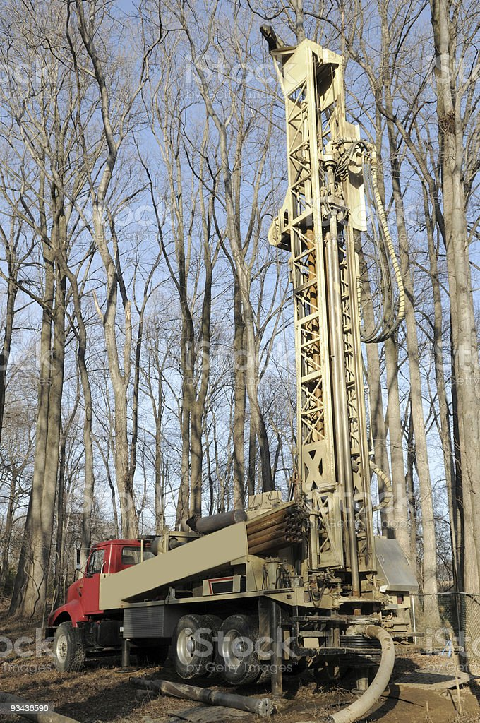 Well Drilling Truck stock photo