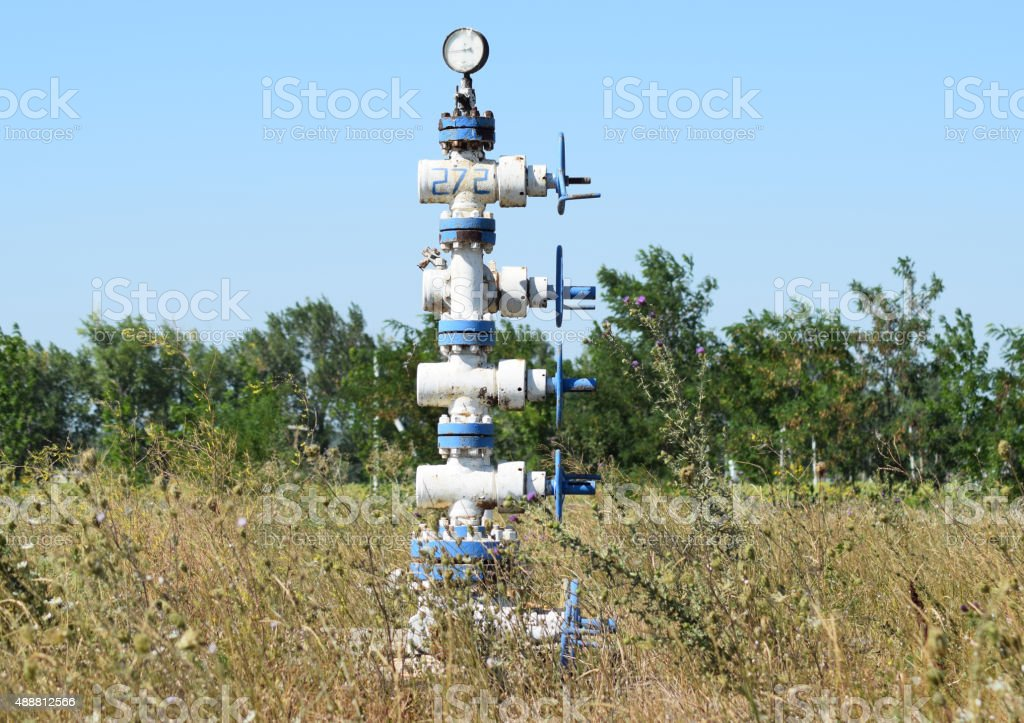 Well for maintenance of reservoir pressure stock photo