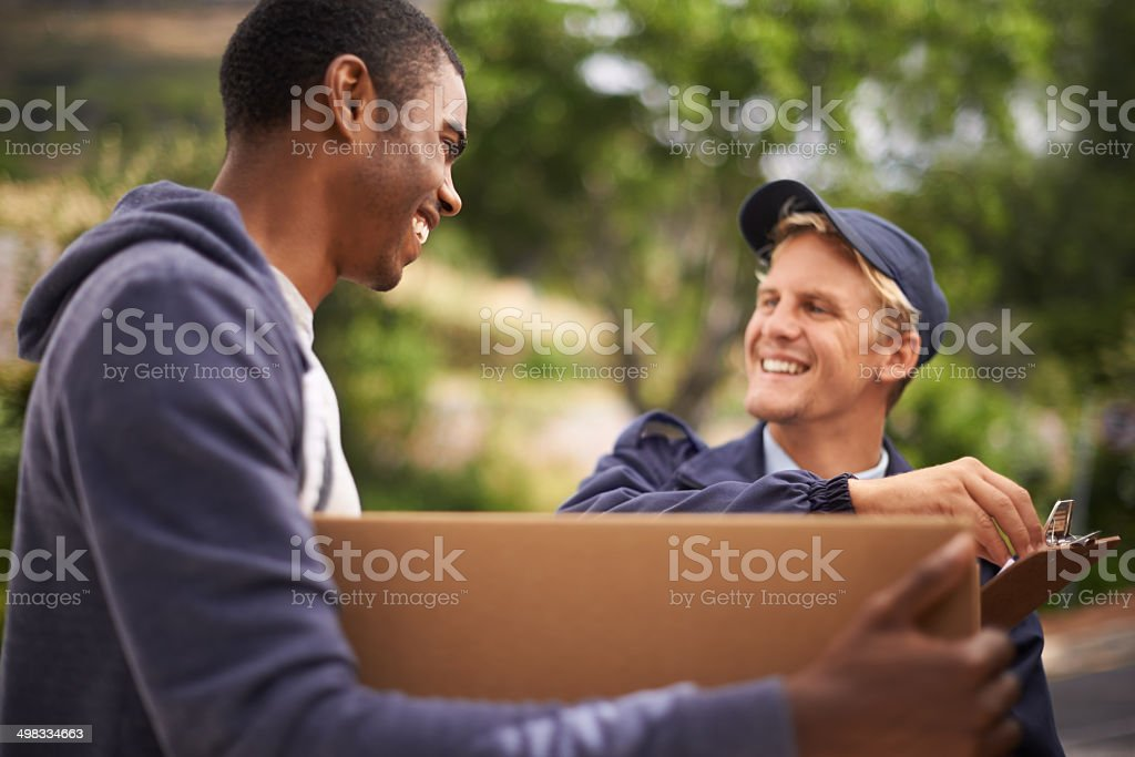 We'll get it there safely stock photo