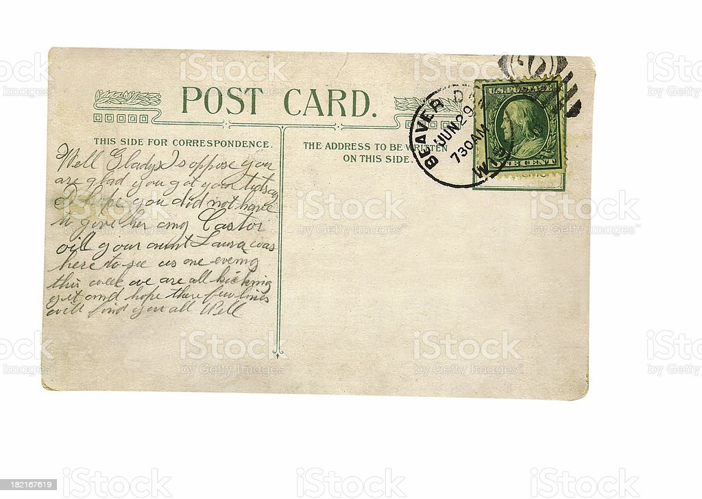 Well Gladys Postcard stock photo