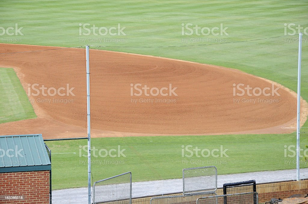 Well groomed baseline on field in off season royalty-free stock photo
