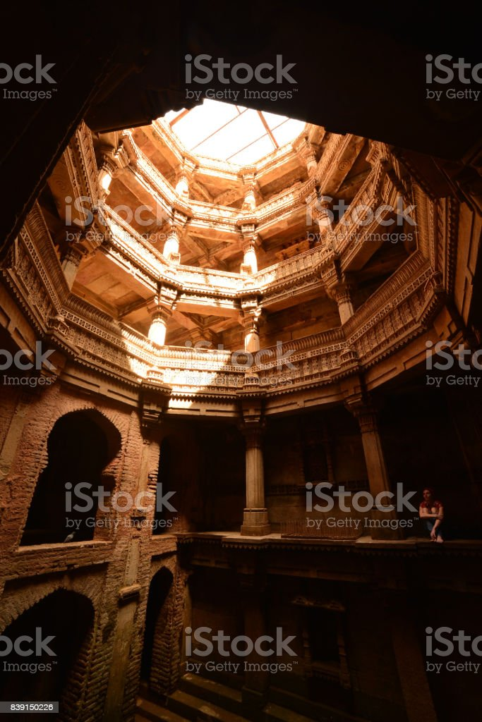 well in Ahmedabad, India. April 2015 stock photo