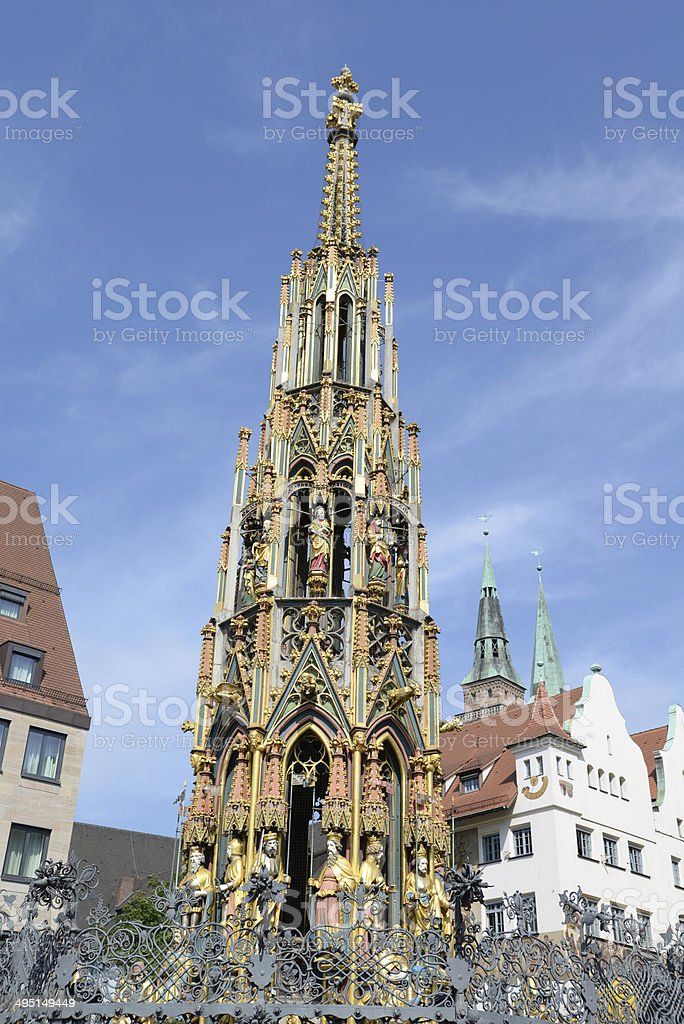 Well in Nuernberg, Germany royalty-free stock photo