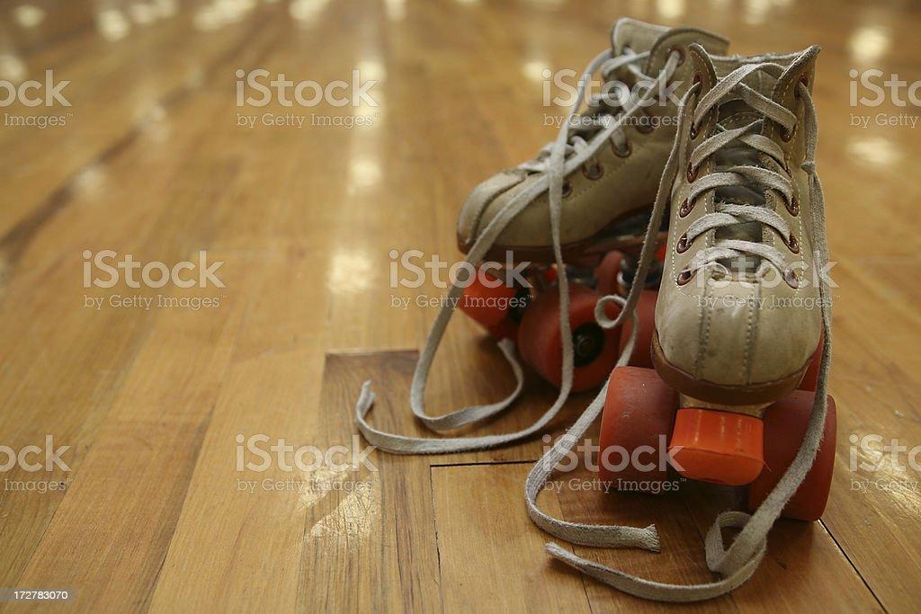 well loved skates stock photo